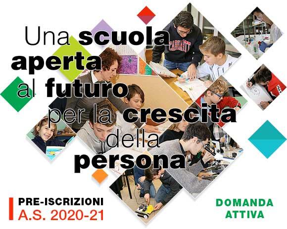pre-iscrizioni A.S. 2020-21 scuola paritaria parificata Istituto Salesiano S. Ambrogio Opera don Bosco Milano - Salesiani Milano