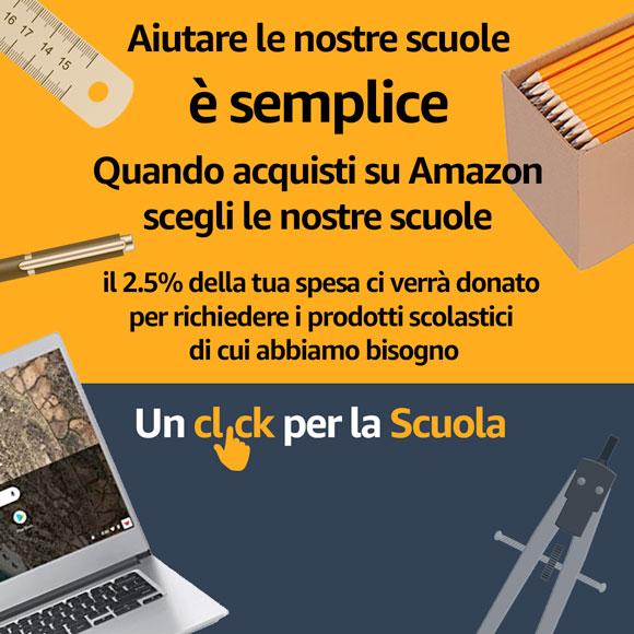 Un click per la Scuola: Amazon donerà il 2.5% della tua spesa a una scuola a tua scelta - Istituto Salesiano S. Ambrogio Opera don Bosco Milano