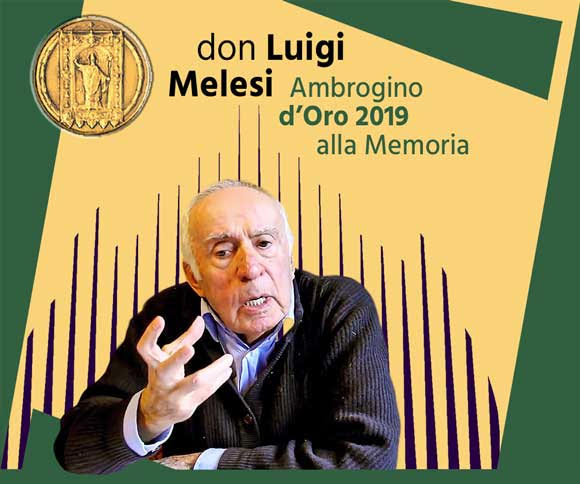Ambrogino d'Oro 2019 don Luigi Melesi - Istituto Salesiano S. Ambrogio Opera don Bosco Milano - Salesiani Milano