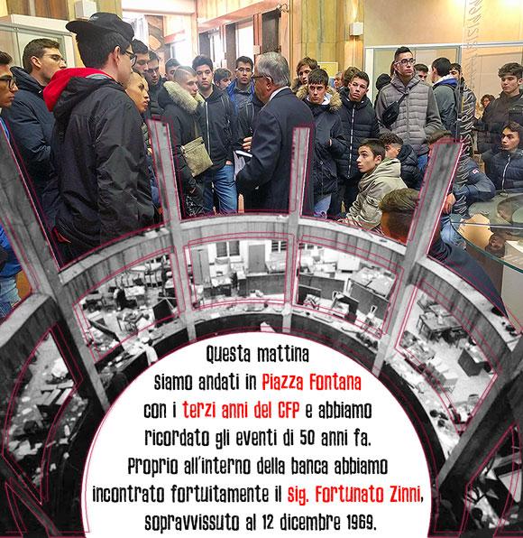 I ragazzi del CFP commemorano piazza Fontana a Milano - Istituto Salesiano S. Ambrogio Opera don Bosco Milano