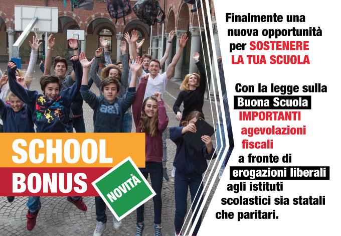 School Bonus: forti agevolazioni fiscali a fronte di erogazioni liberali agli istituti scolastici sia statali che paritari - Salesiani Milano
