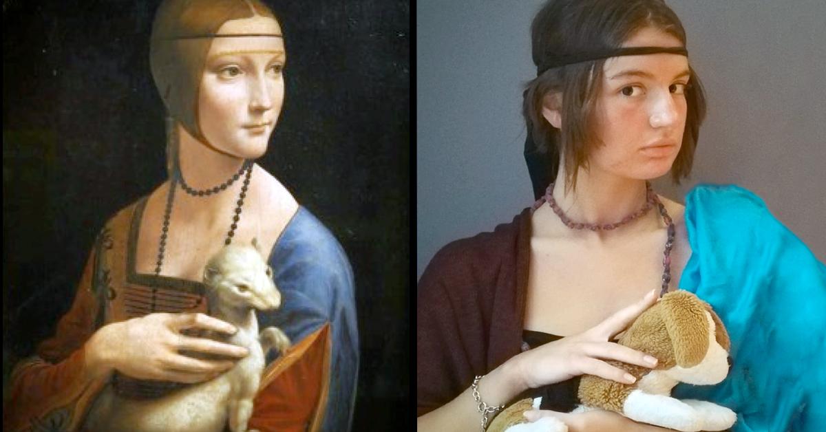 Agnese Bignotti interpreta Leonardo da Vinci