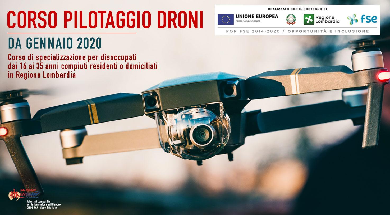 Formazione Continua Corso Pilotaggio Droni Regione Lombardia - Salesiani Milano