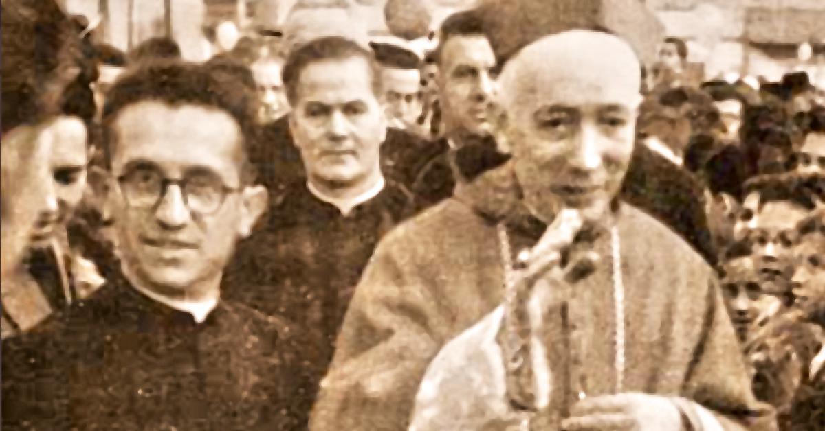 25 aprile 1945: il Card. Schuster, allora Arcivescovo di Milano e don Della Torre - Salesiani Milano